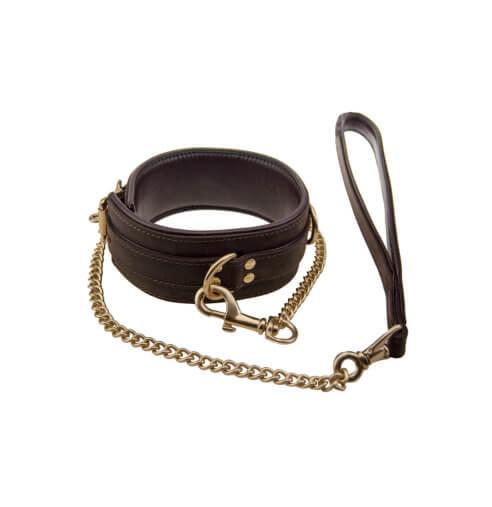 Bondage Collar with Leash