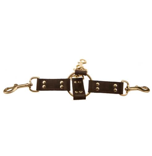 Bound Leather Hog Tie