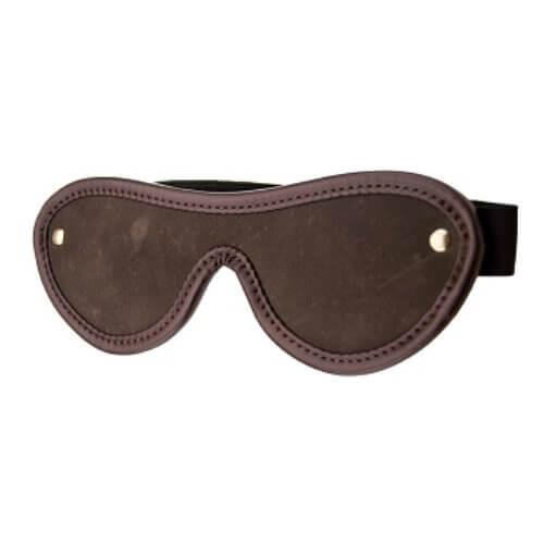 Bound Leather Blindfold