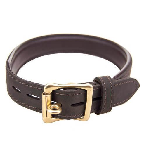Bound Leather Bondage Collar