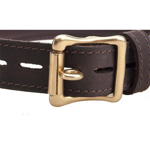 Bound Leather Bondage Collar with O Ring