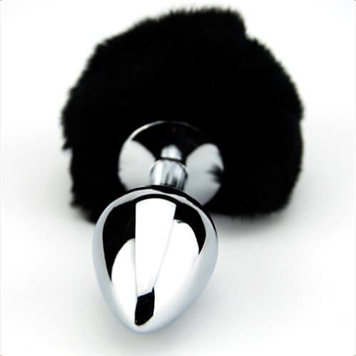 Furry Fantasy Black Bunny Tail Anal Plug